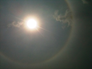 Rainbow Halo Around Sun